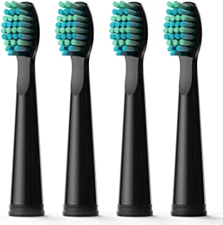 Fairywill Electric Toothbrush Head x 4 with Soft Bristle Solely Compatible for FW-507,FW-508,FW917,FW959,FW515 Series Toothbrush