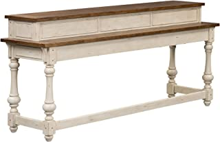 Liberty Furniture Industries Morgan Creek Console Bar Table, W77 x D21 x H36, White