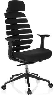 hjh OFFICE Chaise de Bureau/Chaise pivotante Ergo Line II Pro Tissu Noir
