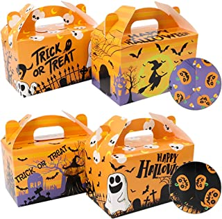 Funarty 16 Pack Halloween Paper Treat Boxes Candy Boxes Party Favor Gift Boxes