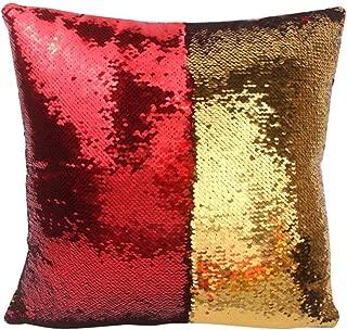 red mermaid pillow