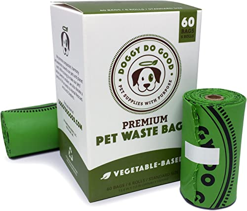 Biodegradable Poop Bags | Dog Waste Bags, Unscented, Vegetable-Based & Eco-Friendly, Premium Thickness & Leak Proof, ...