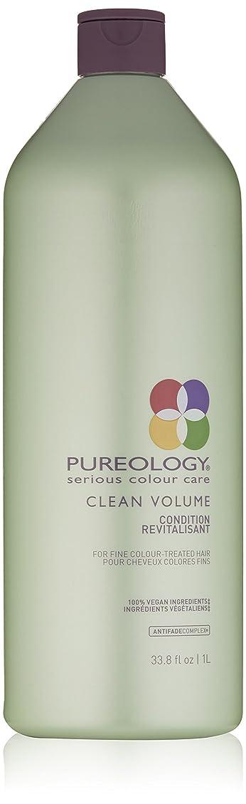 寄り添う水を飲む形状Pureology クリーンボリュームコンディショナー、33.8液量オンス 33.8 fl。オンス 0