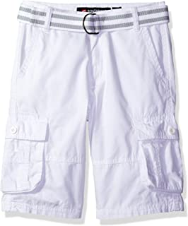 SOUTHPOLE Boys' Belted Mini Canvas Cargo Shorts in