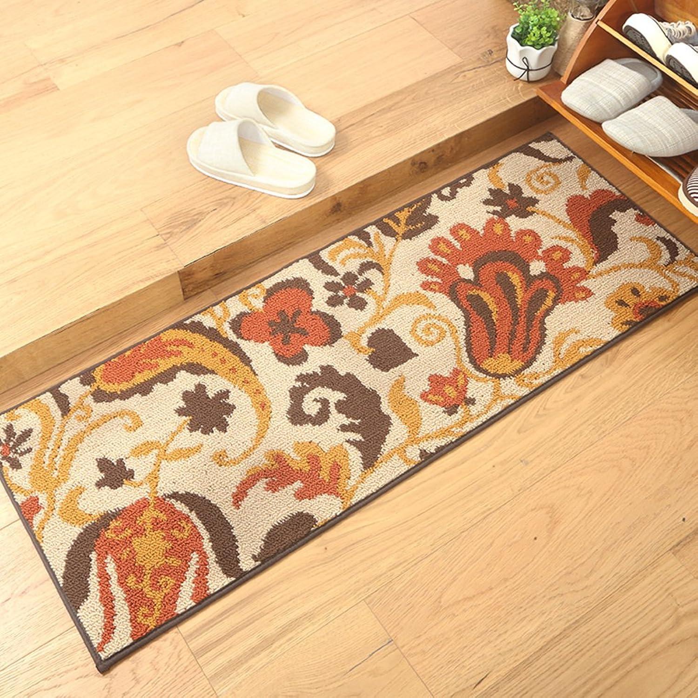 Doormat Anti-skidding,Water-Absorbing mats European-Style Floor mats Doormat Door,Kitchen,Long mats Home,Restroom,The Door,Bathroom Door mat-C 45x180cm(18x71inch)
