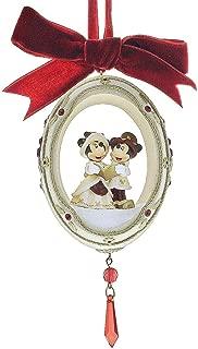 Disney World Park Rare Victorian Minnie Mickey Mouse Egg Christmas Ornament