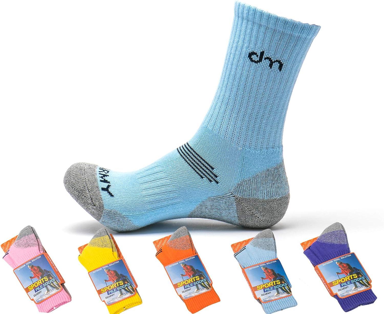 Year Round Moisture Wicking DearMy 5Pack of Womens Multi Performance Cushioned Athletics Hiking Crew Socks