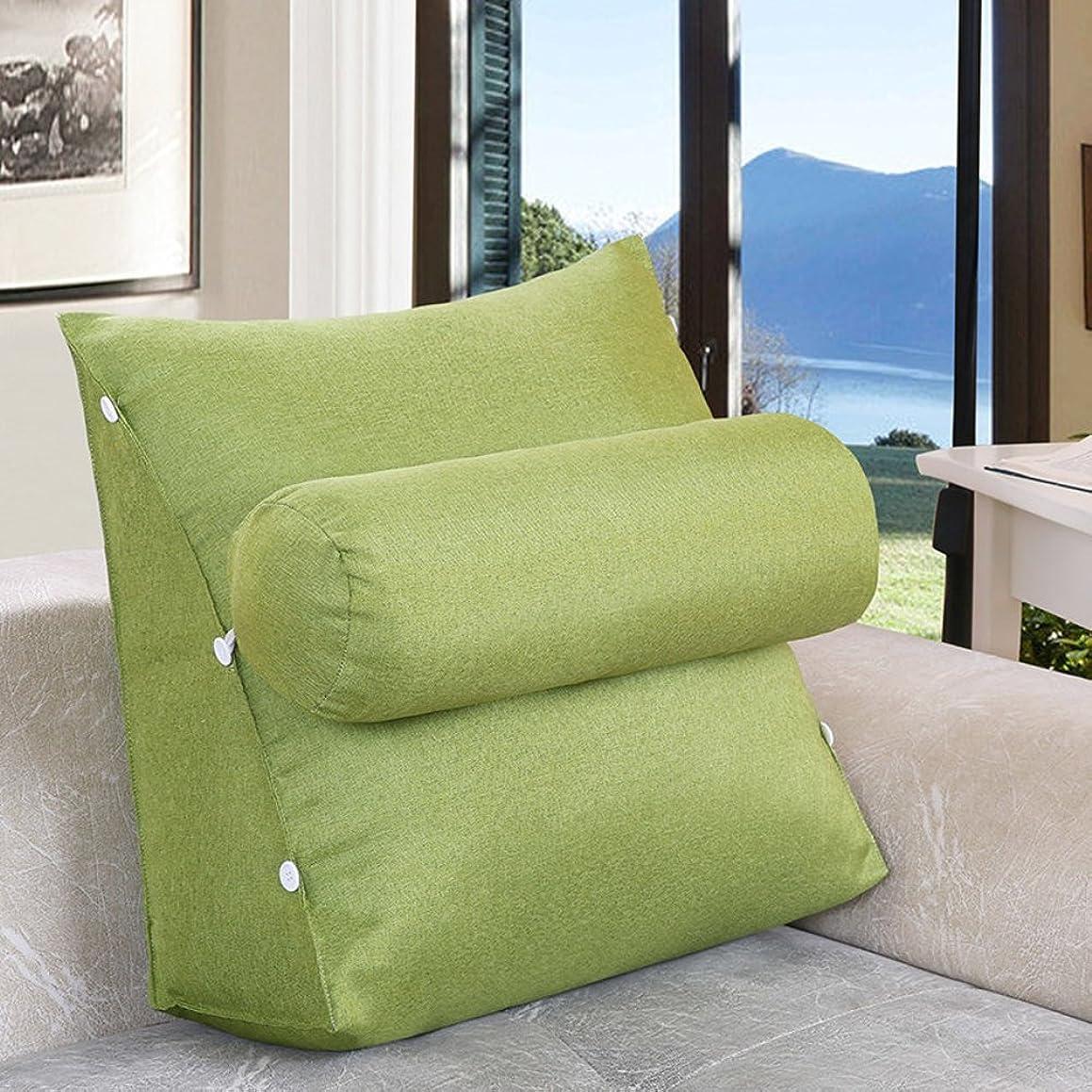 ギャング筋肉の触手JIANHEADS ベッドサイド三角ウェッジ、取り外し可能なウエストバッククッションオフィスバッククッションソファ枕 (Color : Q, サイズ : 60x22x50cm(24x20x9inch))