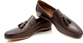 CANNERI Mocassini Uomo con Nappe - 9513 - Elegante Loafer - Scarpa Classica da Lavoro - Scarpa Antiscivolo per Il Business...