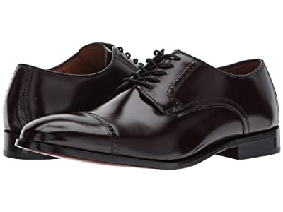 Johnston & Murphy Bradford Dress Cap Toe Oxford (Burgundy Brush-Off) Men