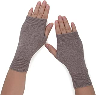 Flammi Womens Knit Fingerless Gloves Cashmere Mittens Warm Thumb Hole Gloves