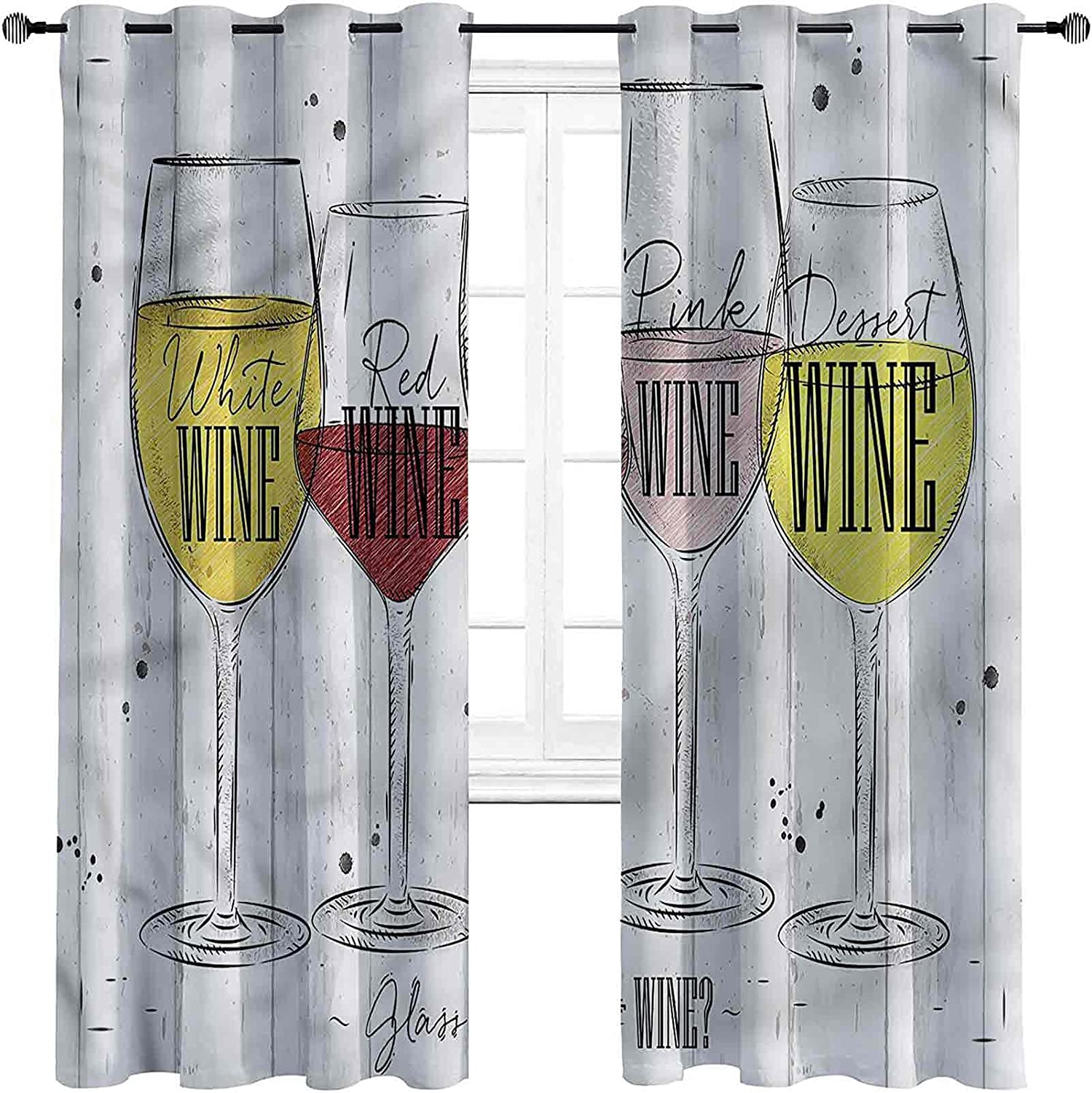 depot Wine Room Darkened Insulation Grommet Curtain Types Win of Four Store
