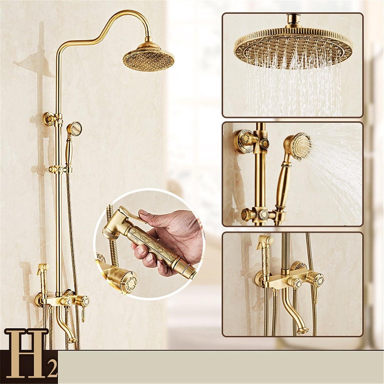 Shower taps, antique shower set, copper taps, bathroom shower, shower head, retro shower,Type 23