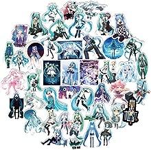 100PCS Hatsune Miku Vinyl Decals, Clear Stickers No-Duplicate Waterproof Vinyl Stickers for Skateboard Luggage Helmet Guitar (Hatsune Miku)