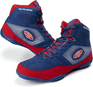 HwwPrime Men's High-Top Boxing Shoes Training Shoes, Indoor Sports Shoes, Unisex's Boxing Shoes,Blue,43 EU