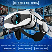 XVKRYLJ Fan Cooling 3D Glasses Deluxe Edition Helmets VR Headset Version Virtual Reality 4.0 to 6.3 Inches Smartphone Coated Anti-Blue Lens