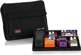 Gator pedales de guitarra de madera 18 x 30,48 cm bolsa de transporte de nailon con candado de - negro, madera, 42 x 30,5 cm