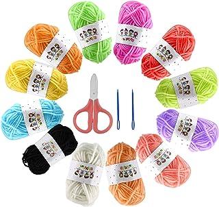 Laine Multicolore pour Tricot,Paquets de Fils de Laine de Couleur,Laine à Tricoter Multicolore en Fil de Crochet,Laine au ...
