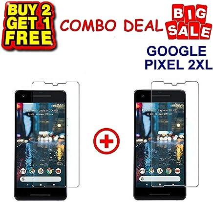 KITE DIGITAL Google Pixel 2XL Premium Tempered Glass Screen Protector Slim 9H Hardness 2.5D (Pack of 3)