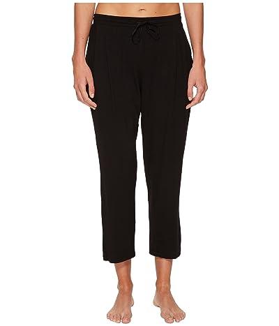 Donna Karan Sleepwear Modal Spandex Jersey Capri Pants (Black) Women