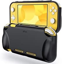 JETech Skyddsfodral för Nintendo Switch Lite 2019, Greppskydd med Stötdämpning Och Repskydd, Svart