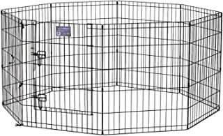"Midwest Foldable Metal Exercise Pen/Pet Playpen. Black w/Door, 24""W x 30""H"