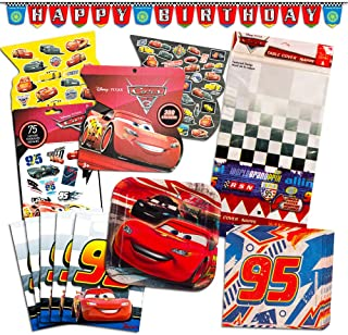 Disney Cars Party Supplies Ultimate Set -- Dessert Plates, Napkins, Table Cover, Favor Bags and More (Disney Cars Party Supplies)