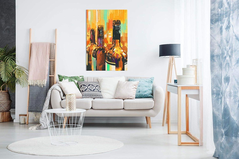 dise/ño de botellas de vino contempor/áneo moderno 91,4 x 60,9 cm abstracto Cuadro decorativo para pared de cocina