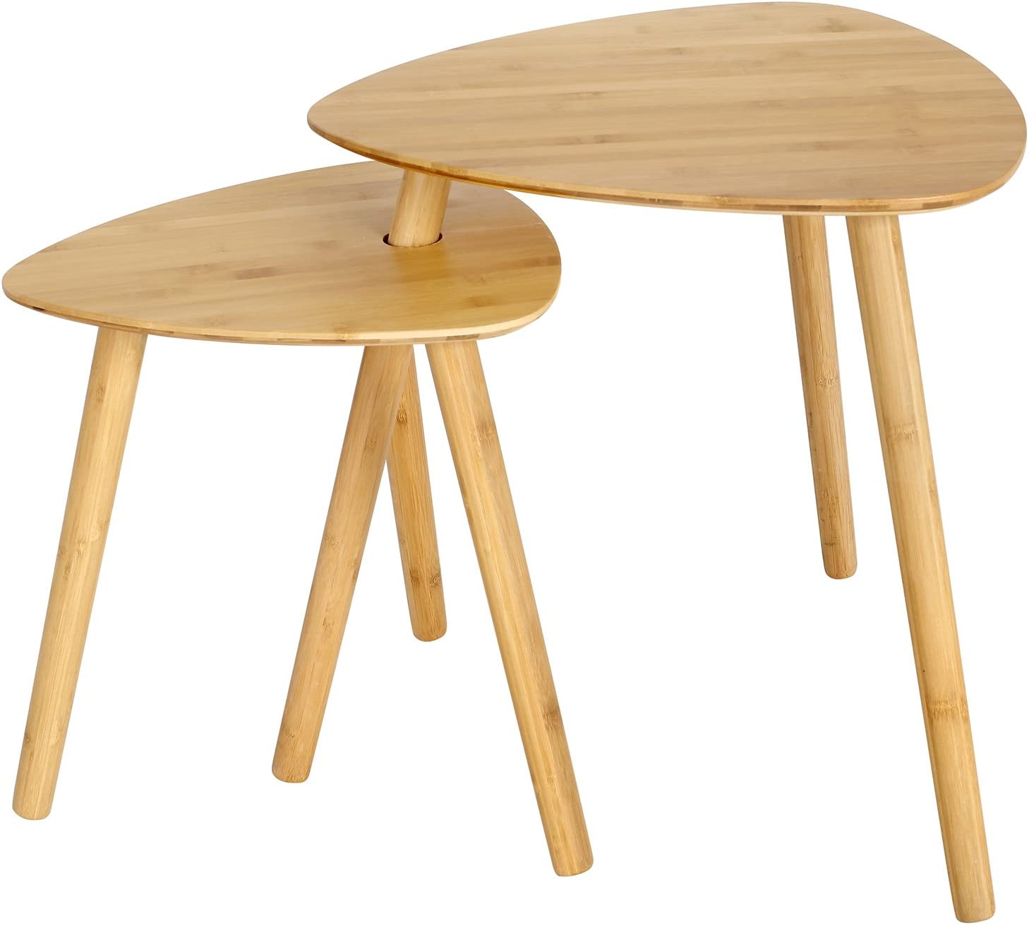 SONGMICS Set of 2 Bamboo End Table All items in the store Nightstand Wood Courier shipping free Nesting