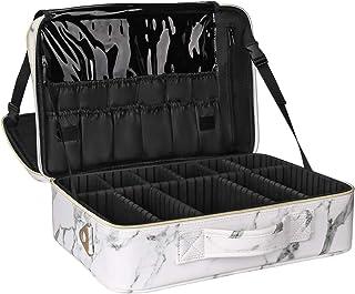 Relavel Makeup Train Case Cosmetic Organizer Make Up Artist Box Large Size with Adjustable Shoulder for Makeup Brush set H...