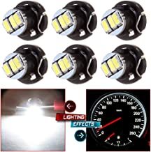 cciyu 6 Pack White T4/T4.2 Neo Wedge 3014 SMD A/C Climate Control LED Light Bulb US Ship Replacement fit for 2002-2011 Toyota Camry Matrix Tacoma Corolla