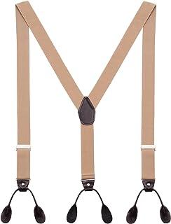 DEBAIJIA Bretelle Uomo Forma a Y Regolabili Elastici Molto Forti Con 6 Tasti Larghezza 3,5 cm in Diversi Colori