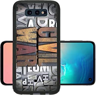 Liili Phone Case Designed for Galaxy S10e Case Aluminum Backplate Bumper Snap Case Civil War Written in Vintage Letterpress Type Image ID 24898130