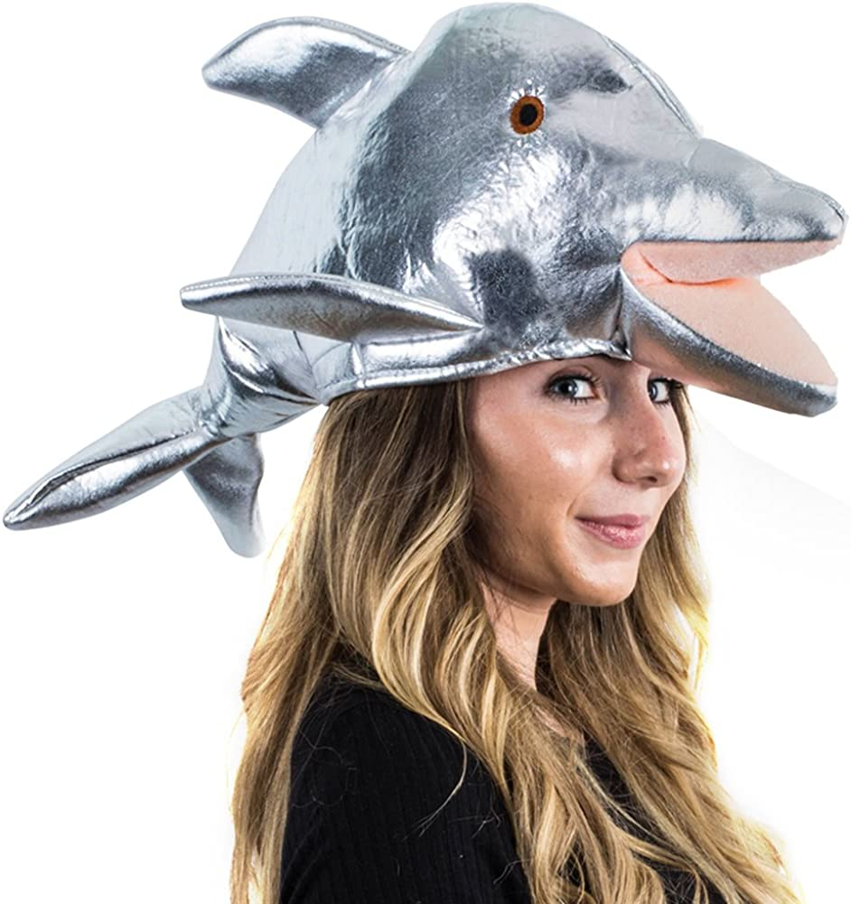 Tigerdoe Fish Hat - Whale Large discharge sale Animal Same day shipping Sea Dolphin O