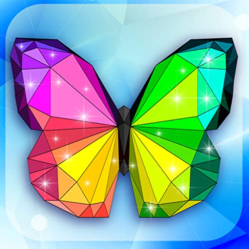 Poly Art Magic Diamond Coloring Book