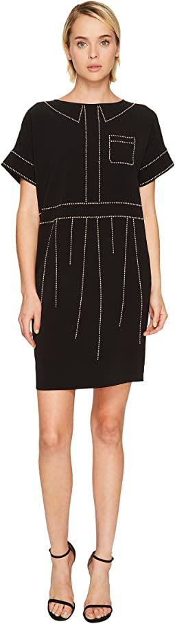 Boutique Moschino - Crepe Studded Dress