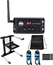 American DJ myDMX Go Wireless Lighting Control App with Professional Black Laptop Stand Package