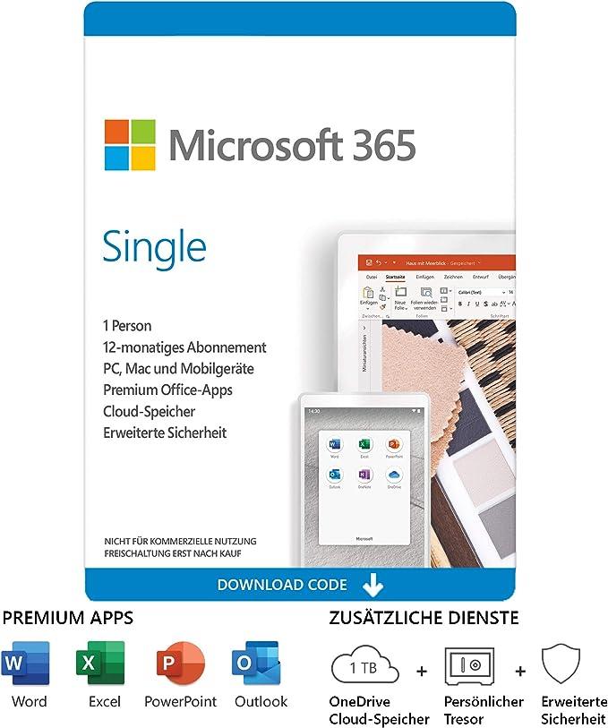 Microsoft Single | 1 Jahres-Lizenz | 1 Nutzer | Download bei uns für 41,90 EUR kaufen