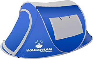 Wakeman Pop-Up Tent 2 Person Water Resistant