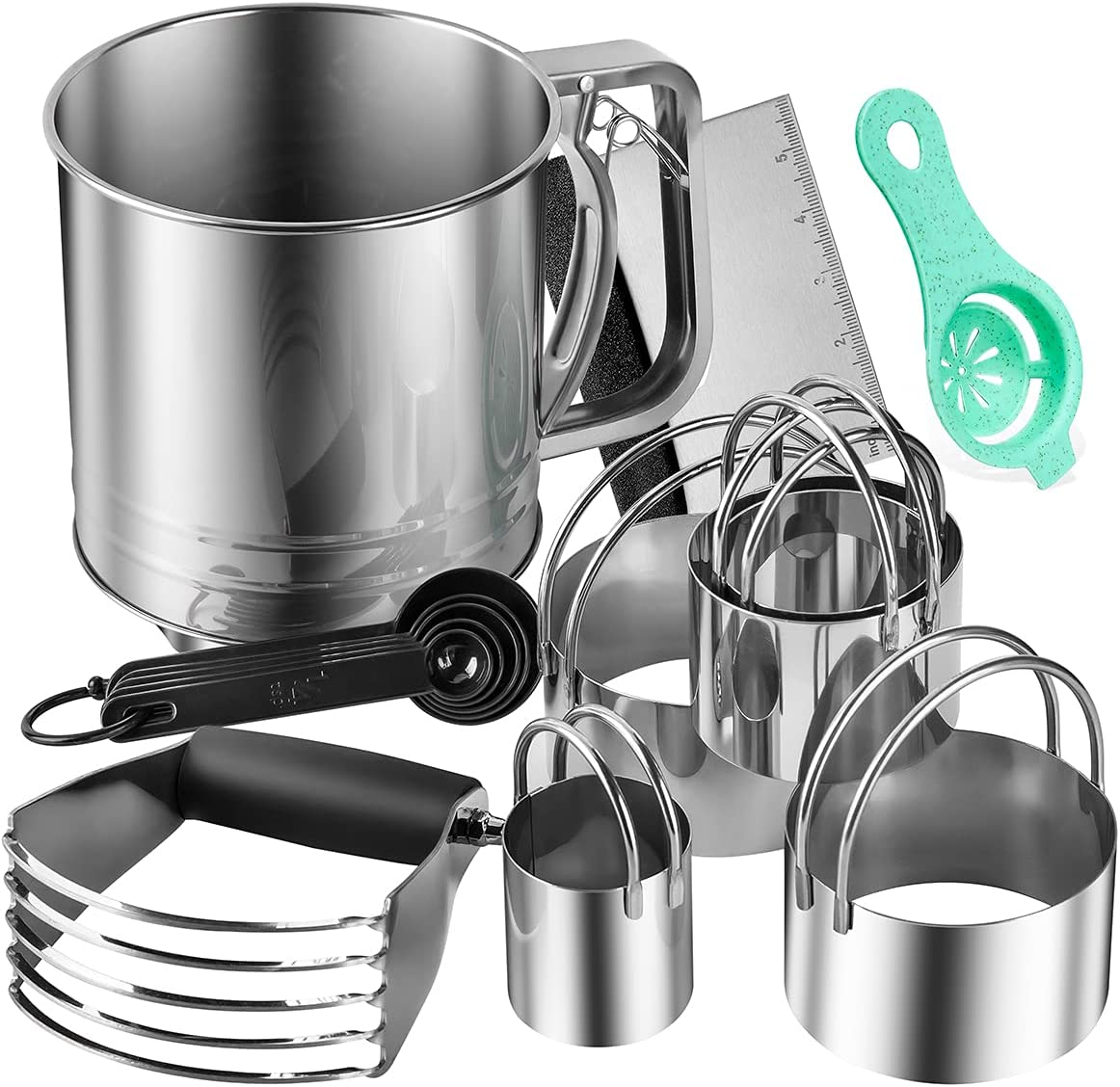 BYkooc Popular Biscuit Cutter Set Pastry Flour Stainless Steel Now on sale Si