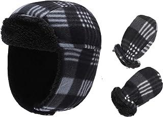 طقم ACTLATI للأطفال من الصوف قبعة الشتاء قفازات طفل دافئ غطاء الأذن للأطفال لينة من الصوف مجموعة قبعة للأولاد والبنات