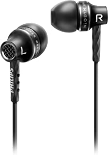 Fone de Ouvido Intra-auricular Philips SHE9100 Preto Som Preciso de Alta Performance Carcaça de Alumínio