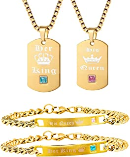 king and queen gold bracelets