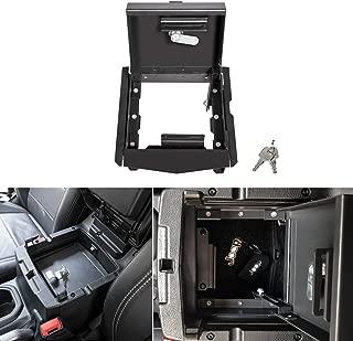 Security Console Insert Center Console Safe Heavy Duty Armrest Storage Lock Box for 2018 2019 2020 Jeep Wrangler JL JLU