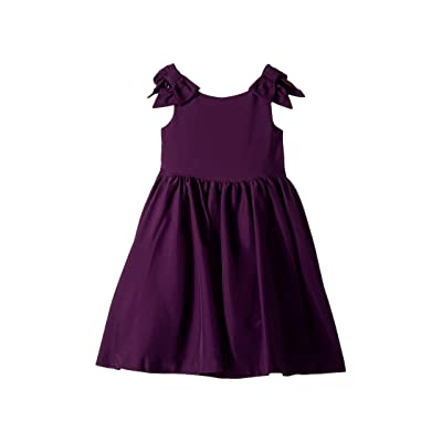 Janie and Jack Special Occasion Bow Sleeve Dress (Toddler/Little Kids/Big Kids) (Orchid Purple) Girl
