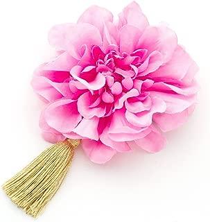 [ミッシュキッシュ]髪飾り ダリアとタッセルの一輪和風クリップ 4511-421