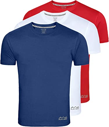 AWG - All Weather Gear Men's Polyester T-Shirt (Awgdft-Bu-Rd-Wh)