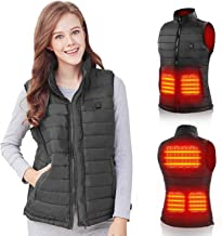 PETREL Lightweight Heated Vest Warm Outdoor Cloths with 5 Heating Zones Rechargeable Heating Vest for Hunting Fishing Skii...