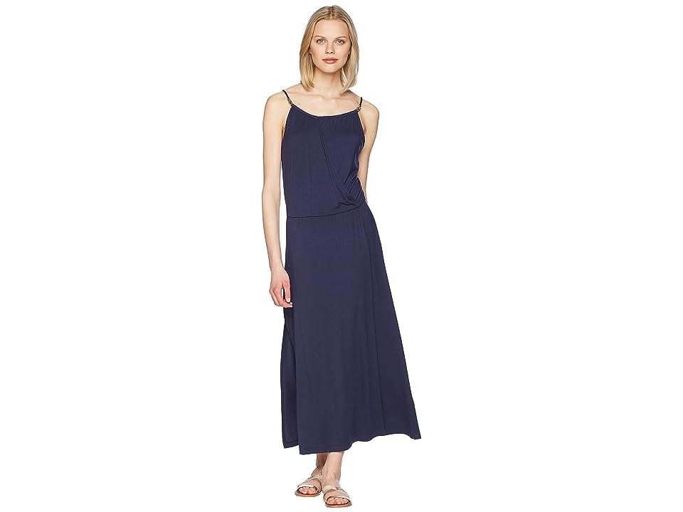 Heidi Klein Cote Sauvage Drop Waist Maxi Dress (Navy) Women