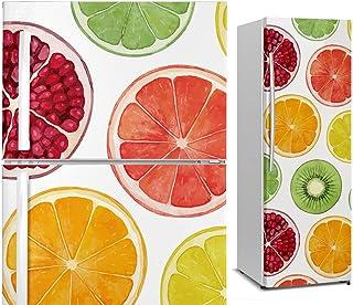 DON LETRA Vinilo Adhesivo para Nevera Fricorífico, Frutas, 185 x 60 cm